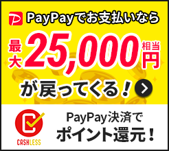 PayPay決済でポイント還元!