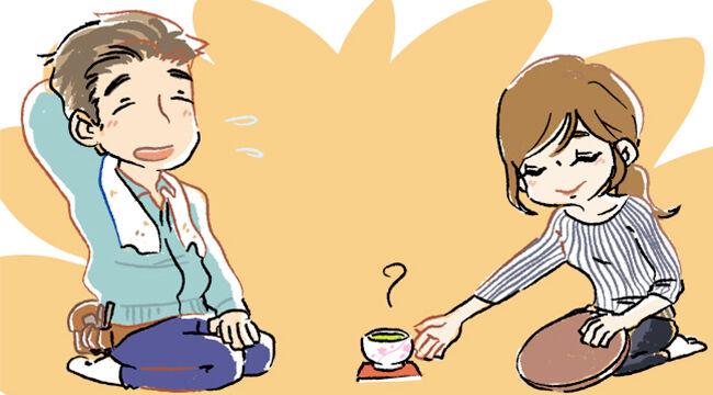 気持ち程度のお茶を