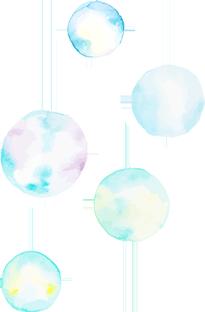 水彩バブル左