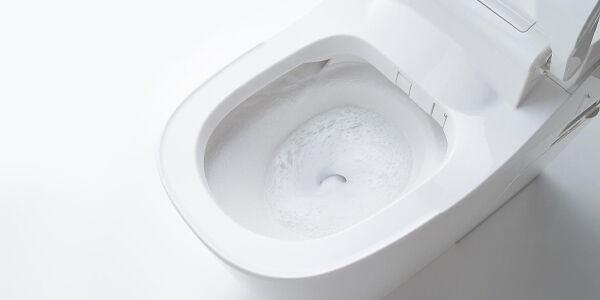 タンクレストイレの水流