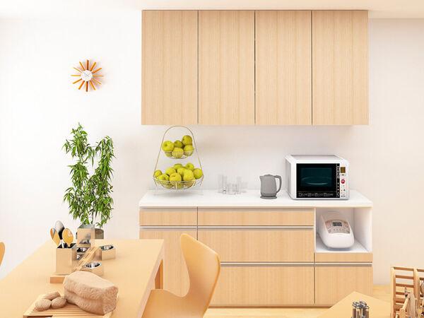 8種類の収納ユニットから選べるキッチン収納家具