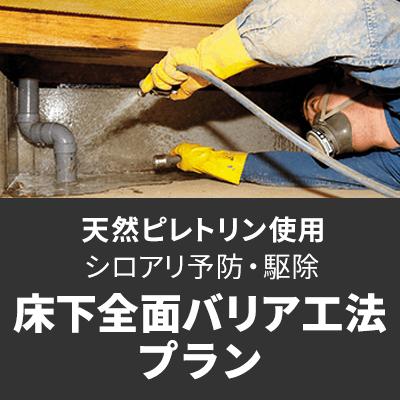【天然ピレトリン】床下全面バリア工法プラン