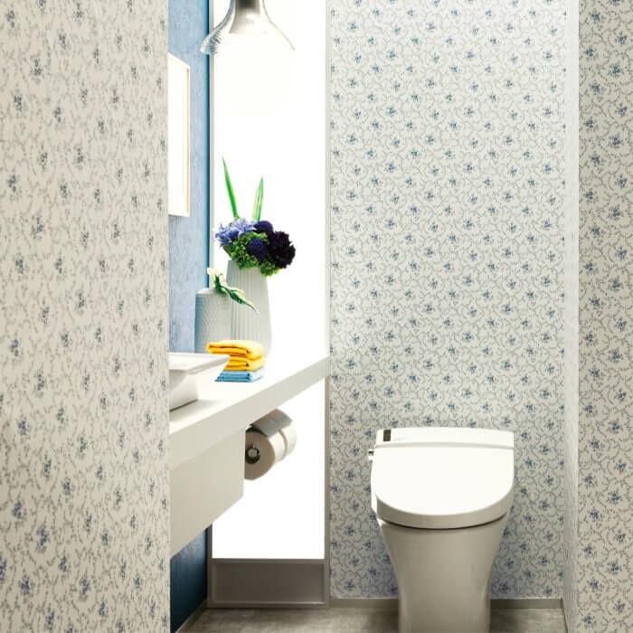 柄のあるトイレ空間