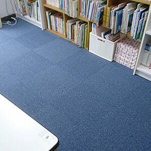 教室の床をお手入れしやすいタイルカーペットに張替えました