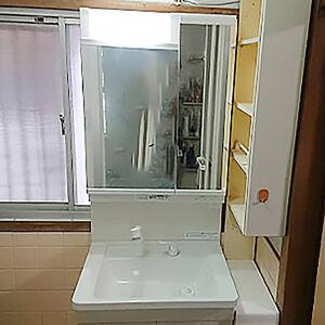 洗面台をコストパフォーマンスの高いKCシリーズに交換