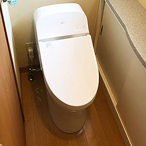 一体形トイレですっきりコンパクトなトイレ空間