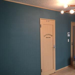 家の中にある素材と相性が良い緑系のクロスでコーディネート