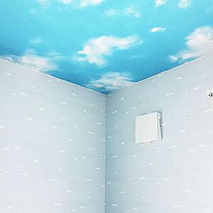 青空とイルカのデザインクロスでリフォーム、楽しい子供部屋へ