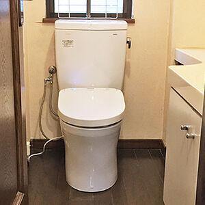 節水機能とカラーリングに長けたトイレに交換