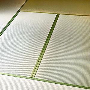 汚れが溜まって変色していた畳から緑の鮮やかない草畳へ新調