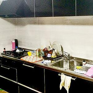 引っ越し前にキッチンラクエラ、お風呂アライズへ交換