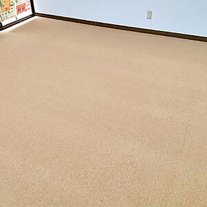住み心地のいいお部屋再び、落ち着いたカラーのカーペット