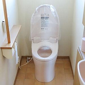 ローシルエットデザインなGGタンク式にトイレ交換