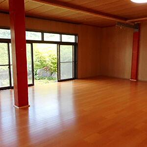 和室から洋室に変更し空手練習場にリフォーム