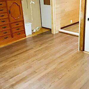 和室の畳をクッションフロアで張替え、間取りも便利に変更