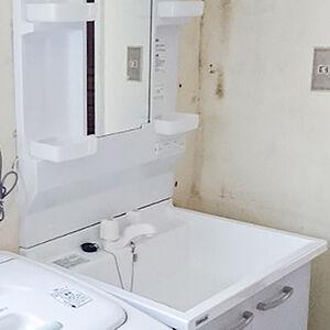 リーズナブルな価格が嬉しい洗面台、クリナップBGAに交換