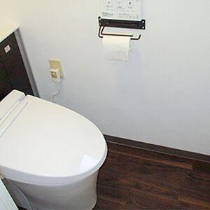 リクシル:リフォレで省スペースで収納のあるオシャレなトイレ