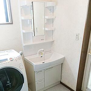 スタイリッシュなノーリツの洗面台シャンピーヌに交換