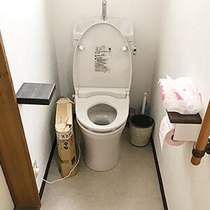 内装を全て変え、お手入れの手間も減らした快適なトイレに