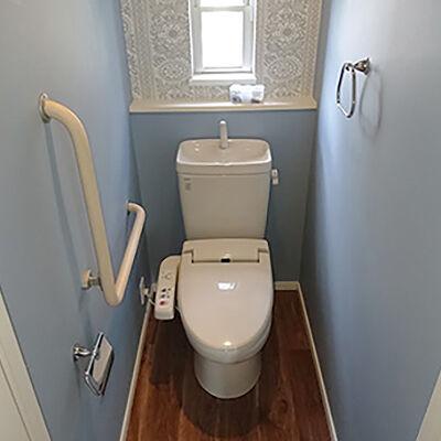 さりげないおしゃれを取り入れたトイレ空間になりました