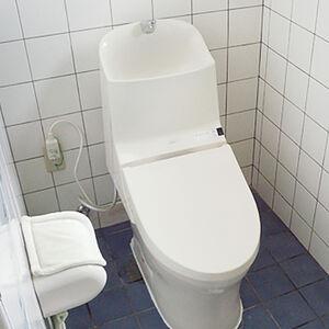 お子様からお年寄りまで手洗いが使いやすいトイレに交換